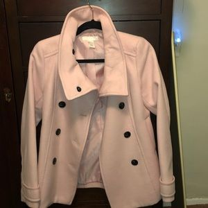 H&M wool pink coat